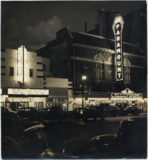 Primary view of object titled '[Paramount Theater Exterior]'.