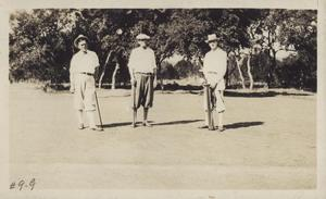 Primary view of object titled '[Three golfers]'.