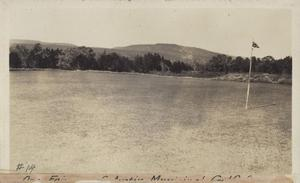 Primary view of object titled '[Municipal Golf Course green number fourteen]'.