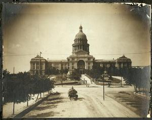 Primary view of object titled '[Texas State Capitol and Street Railroad]'.
