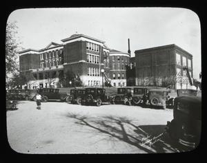 Primary view of [Old Red Campus building, John T. Allan Campus of Stephen F. Austin High School]