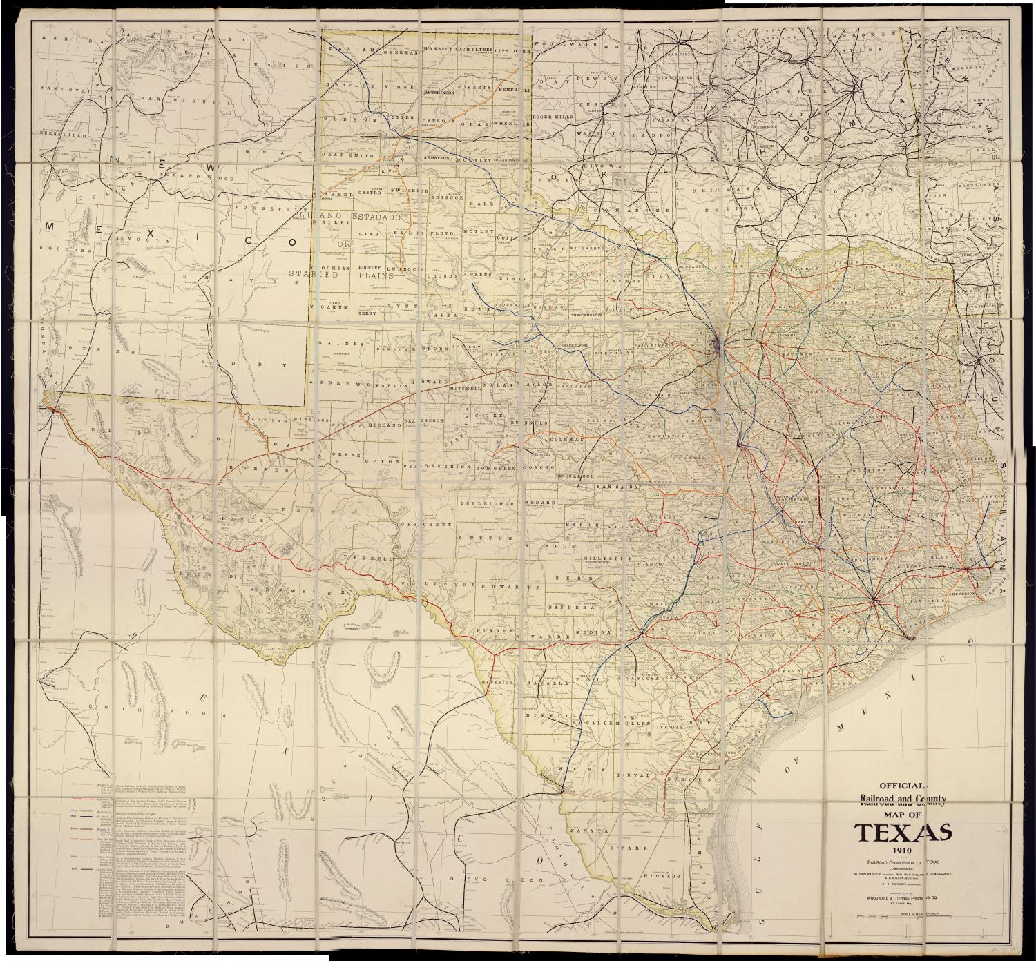 Official Railroad and County Map of Texas                                                                                                      [Sequence #]: 1 of 2