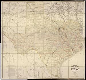Primary view of object titled 'Official Railroad and County Map of Texas'.