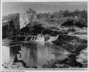 Primary view of object titled 'Grist Mill on Barton Springs'.