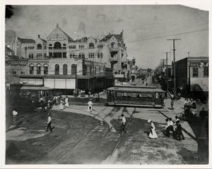 Primary view of object titled '6th and Congress Streets in Austin'.