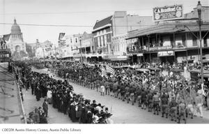 Primary view of object titled 'Armistice Parade up Congress'.