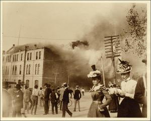 Temporary Capitol Burning