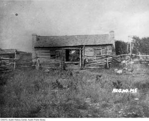 Primary view of object titled 'Log Cabin on the Pedernales'.