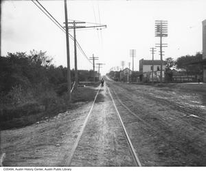 Primary view of object titled '[South Congress Avenue, looking south]'.
