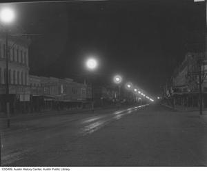 Primary view of object titled 'Congress Avenue at night'.
