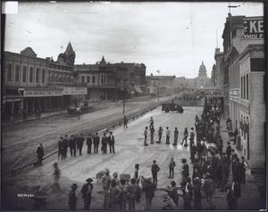 Primary view of object titled 'Paving of Congress Avenue'.