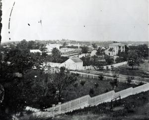 Primary view of object titled 'Looking southwest from Governor's Mansion'.
