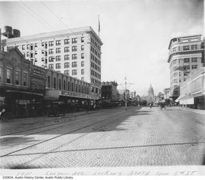 Primary view of object titled 'Congress Avenue looking north from 5th Street'.