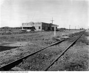 Primary view of object titled 'Camp Mabry railroad switch and arsenal'.
