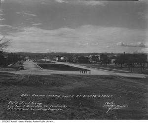Primary view of object titled 'East Avenue looking south at 8th St. after paving project'.