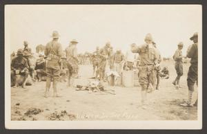 [Soldiers Eating in Field]