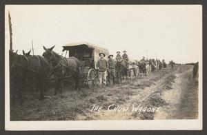 [Cavalry Soldiers with Chow Wagons]