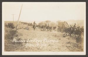 [Cavalry Men on Wagons]