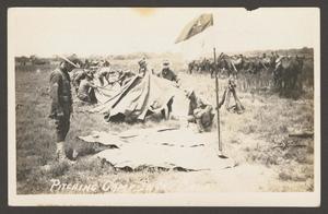 [Cavalry Men Assembling Tents]