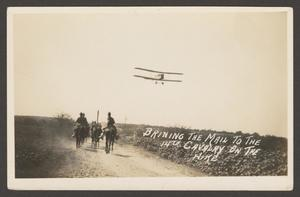 [Cavalry Men and Airplane]