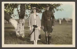 [Soldier and Woman Under Tree]