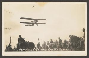 [Airplane Above Troops]