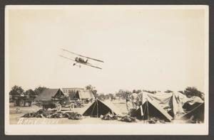 [Plane Above Military Camp]