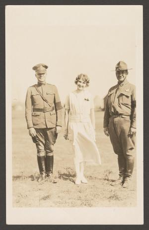 [Woman and Two Soldiers]