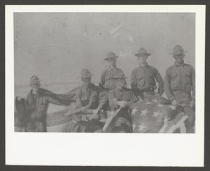 Primary view of [Seven Soldiers WIth U.S. Flag]