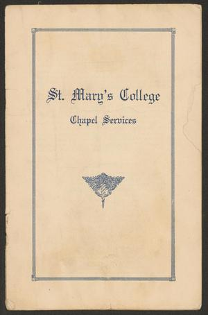 St. Mary's College: Chapel Services