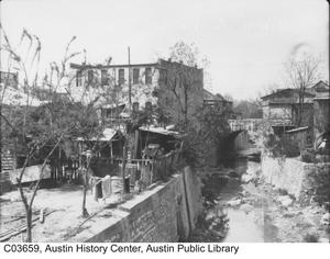 Primary view of object titled '[Waller Creek at 6th Street]'.