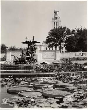 Primary view of object titled '[The UT Tower and Littlefield Fountain]'.
