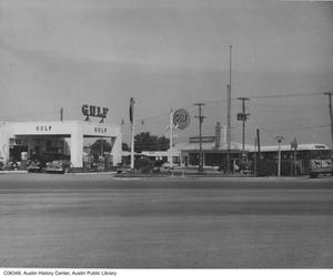 Primary view of object titled '[Corner of South Congress and Riverside]'.