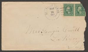 [Envelope Addressed to Georgia Cavett, March 14, 1914]