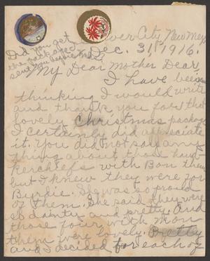 [Letter from Marguerite Cavett to Sarah Pound, December 31, 1916]