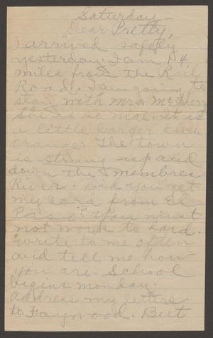[Letter from Margaret Kelly to Marguerite Cavette, August 27, 1918]