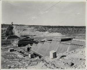 Primary view of object titled '[Mansfield Dam under construction]'.