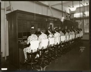 Primary view of object titled '[Southwestern Bell switchboard]'.