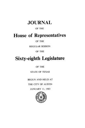 Primary view of object titled 'Journal of the House of Representatives of the Regular Session of the Sixty-Eighth Legislature of the State of Texas, Volume 2'.