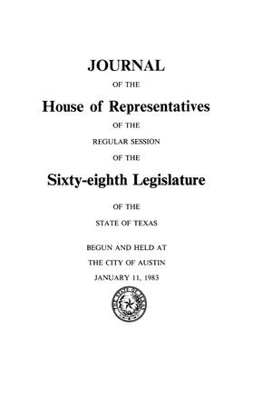 Primary view of object titled 'Journal of the House of Representatives of the Regular Session of the Sixty-Eighth Legislature of the State of Texas, Volume 3'.