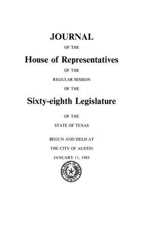 Journal of the House of Representatives of the Regular Session of the Sixty-Eighth Legislature of the State of Texas, Volume 4