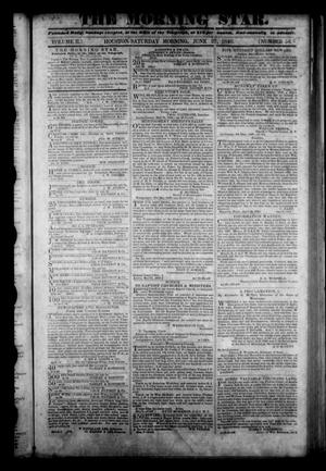 Primary view of The Morning Star. (Houston, Tex.), Vol. 2, No. 56, Ed. 1 Saturday, June 27, 1840