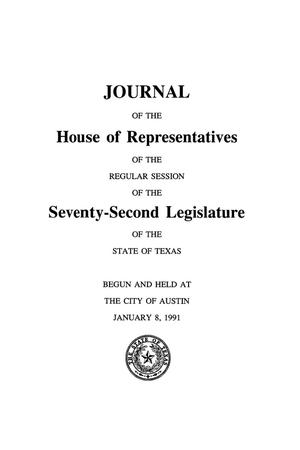 Primary view of object titled 'Journal of the House of Representatives of the Regular Session of the Seventy-Second Legislature of the State of Texas, Volume 2'.