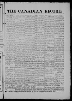 Primary view of object titled 'The Canadian Record (Canadian, Tex.), Vol. 26, No. 37, Ed. 1  Thursday, June 19, 1919'.