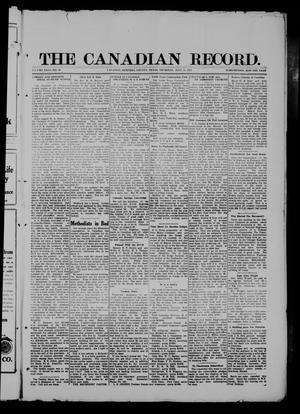 Primary view of object titled 'The Canadian Record (Canadian, Tex.), Vol. 26, No. 43, Ed. 1  Thursday, July 31, 1919'.