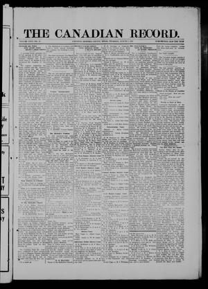 The Canadian Record (Canadian, Tex.), Vol. 26, No. 44, Ed. 1  Thursday, August 7, 1919