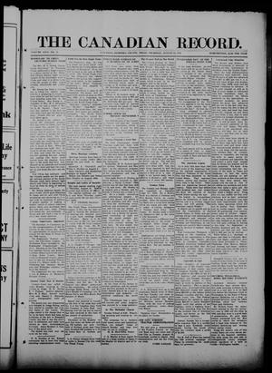The Canadian Record (Canadian, Tex.), Vol. 26, No. 45, Ed. 1  Thursday, August 14, 1919