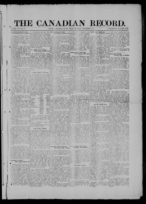 Primary view of object titled 'The Canadian Record (Canadian, Tex.), Vol. 26, No. 48, Ed. 1  Thursday, September 4, 1919'.
