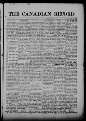 Primary view of object titled 'The Canadian Record (Canadian, Tex.), Vol. 26, No. 49, Ed. 1  Thursday, September 11, 1919'.