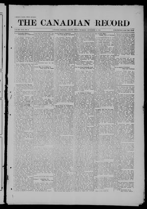 Primary view of object titled 'The Canadian Record (Canadian, Tex.), Vol. 26, No. 50, Ed. 1  Thursday, September 18, 1919'.